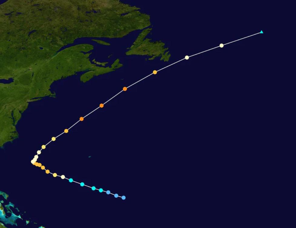 飓风艾拉奇迹般的转向