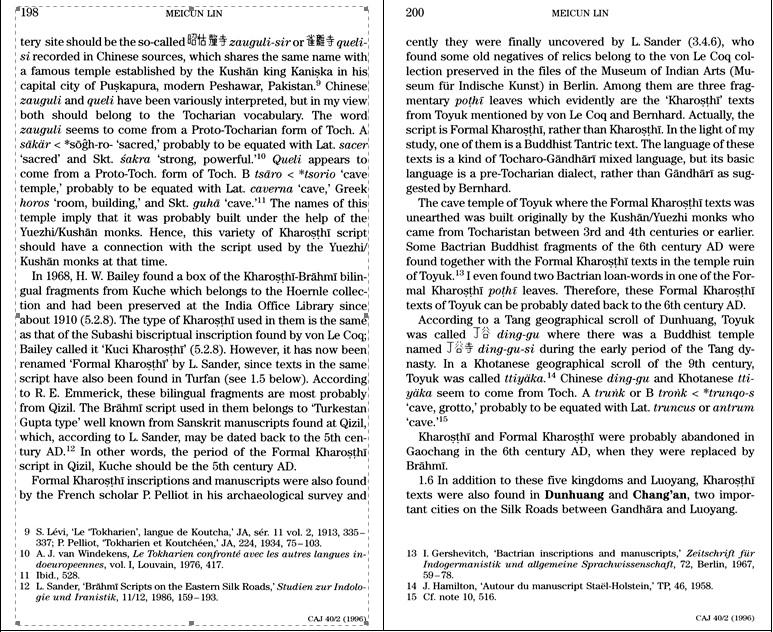 图六 林梅村《佉卢文文献:中国藏品(1897-1993)》英文本相关页码