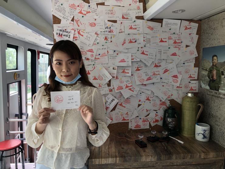 李悦送上了对党的生日祝福。澎湃新闻记者 张成杰 图