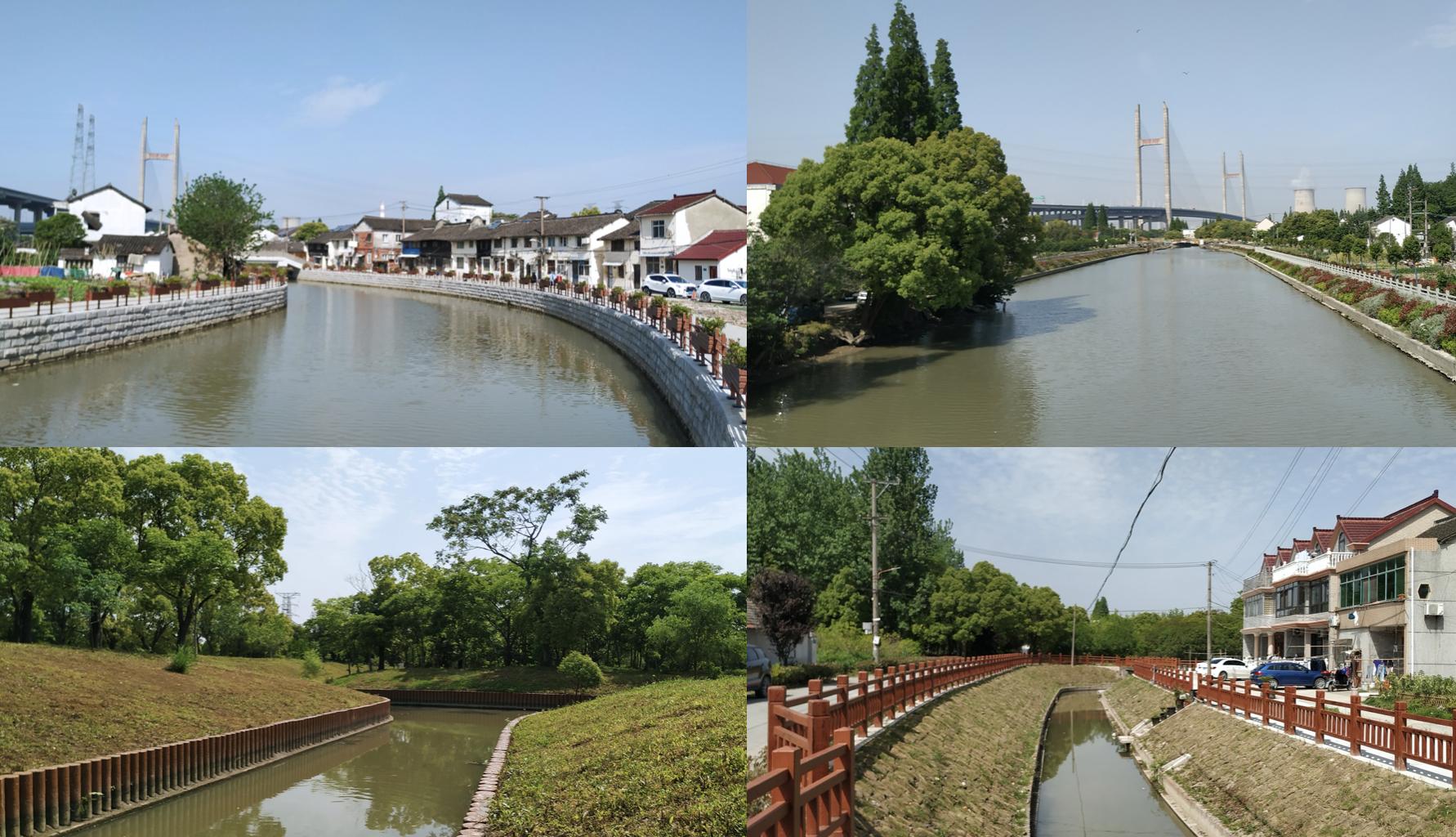 几处典型的硬化河道。郭陶然 图
