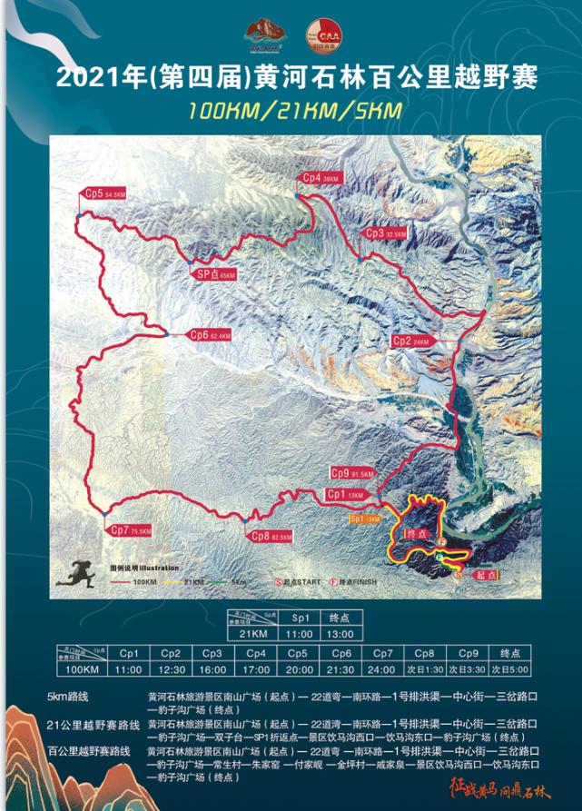 比赛线路图,危险情况主要发生在CP2与CP3之间的赛道。