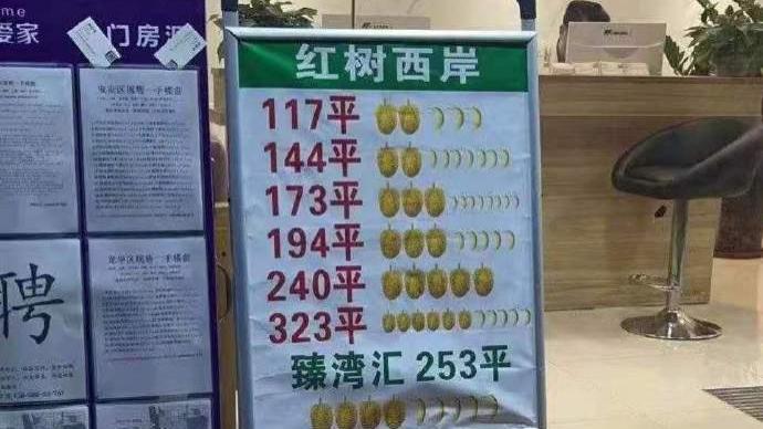"""""""榴莲一千万、香蕉一百万"""",深圳查处房地产水果图案挂牌价"""