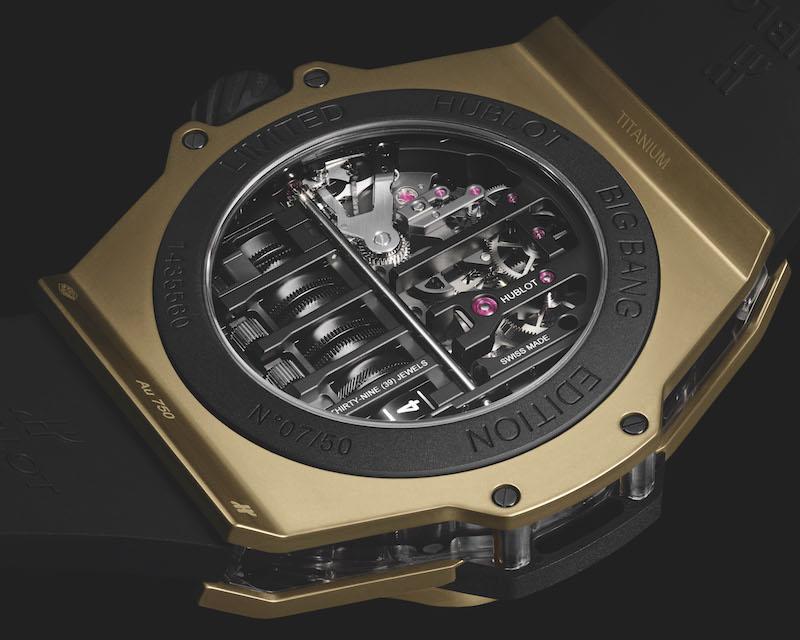 宇舶表Big Bang MP-11 14天动力储存魔力金腕表