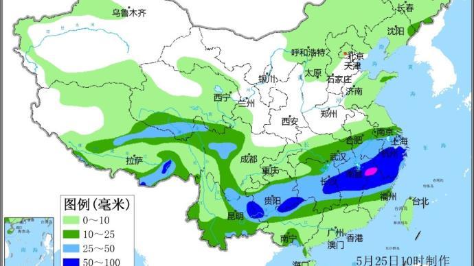 本月南方已遭遇5次较强降雨过程:雨区重叠度高,致灾风险高