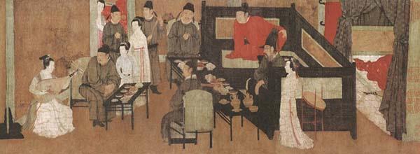 南唐顾闳中《韩熙载夜宴图》(第一段)