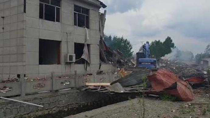 黑龙江东宁楼体爆炸致2死5伤,涉事公司负责人被控制