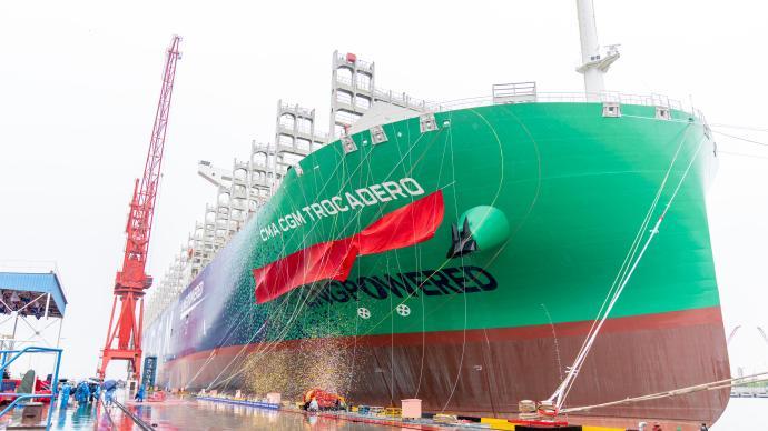 江南造船四艘世界最大雙燃料集裝箱船圓滿收官