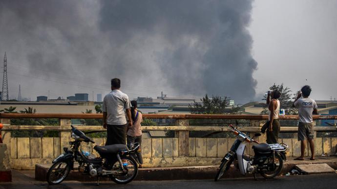 缅甸判处纵火打砸中资企业暴徒20年监禁和劳役