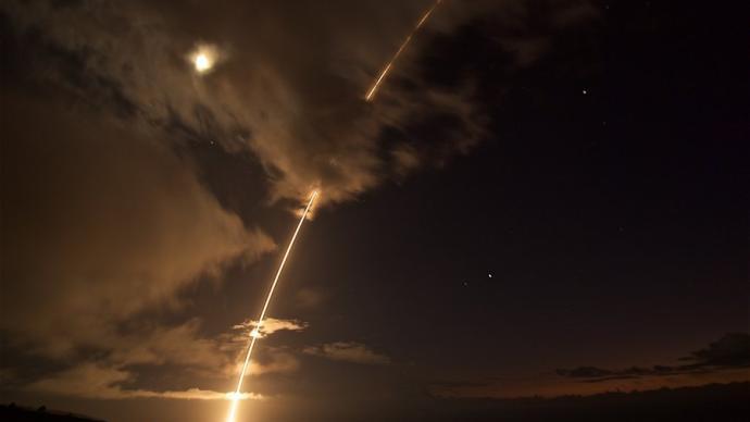 """美国""""宙斯盾""""防御系统测试失败,未能击中中程弹道导弹"""