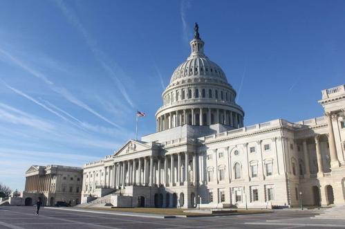 美国国会。