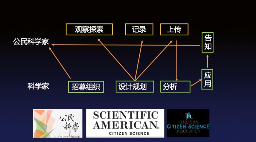 """上海自然博物馆""""公民科学家""""项目的架构。主讲人供图"""