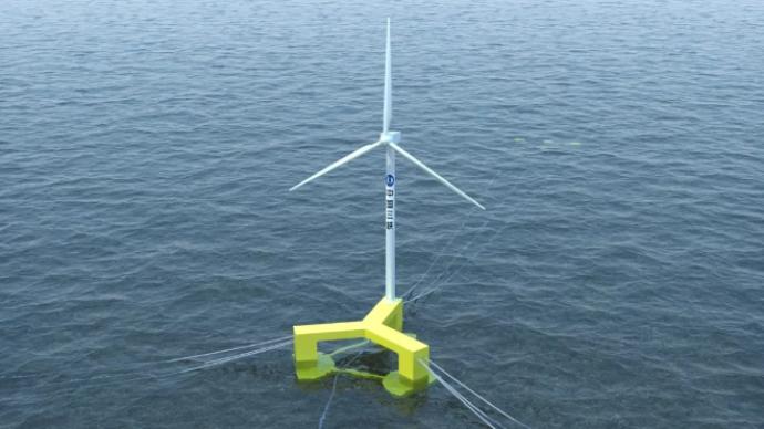 可抗17級臺風!全球首臺抗臺風型漂浮式海上風電機組下線