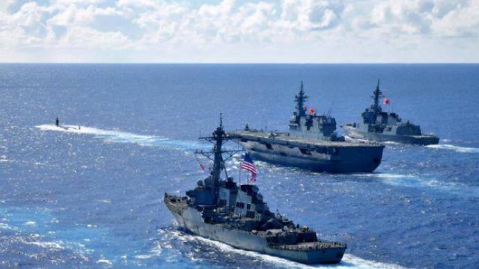 日美法澳在東海地區開展演習系針對中國威懾行動?國防部回應
