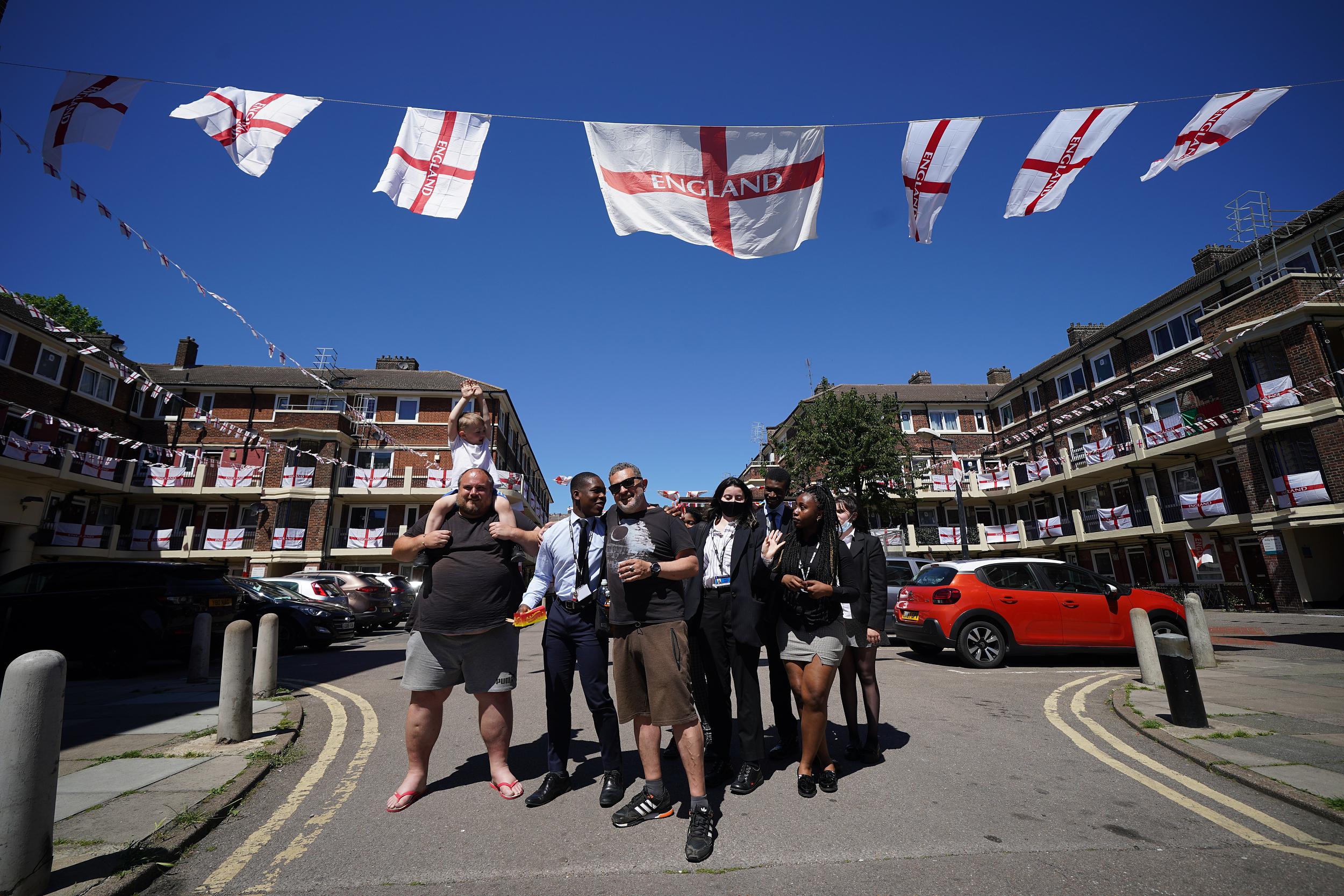 英格兰球迷。