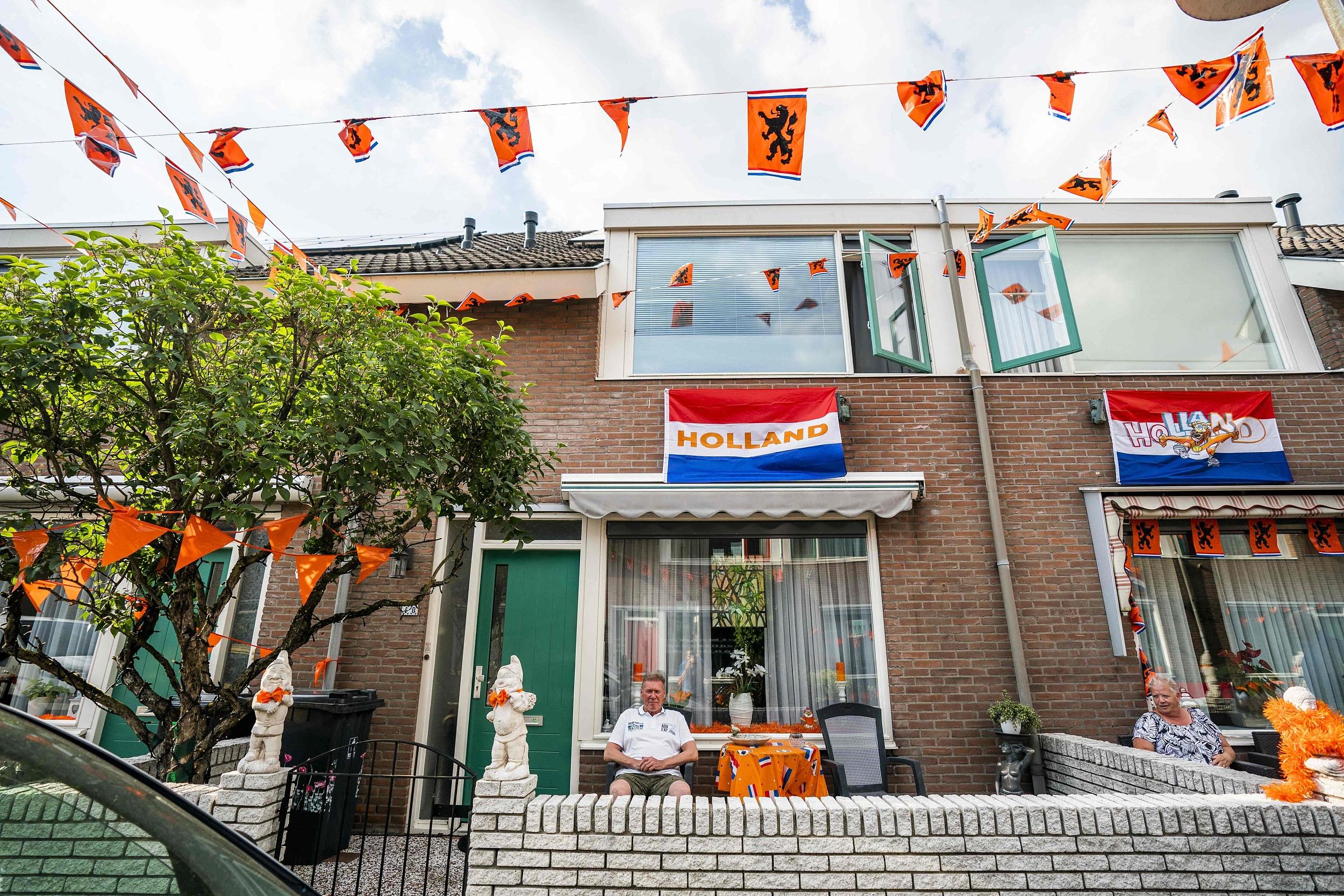 荷兰球迷已经将家园涂装成了橙色。