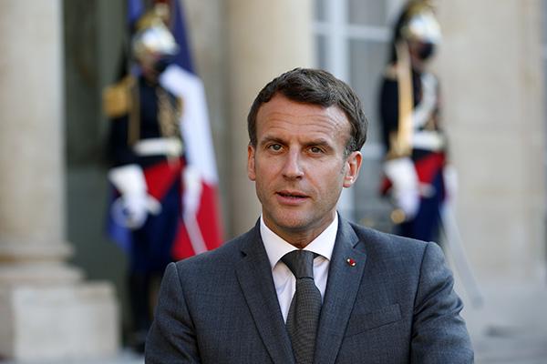 法国总统马克龙。人民视觉 资料图