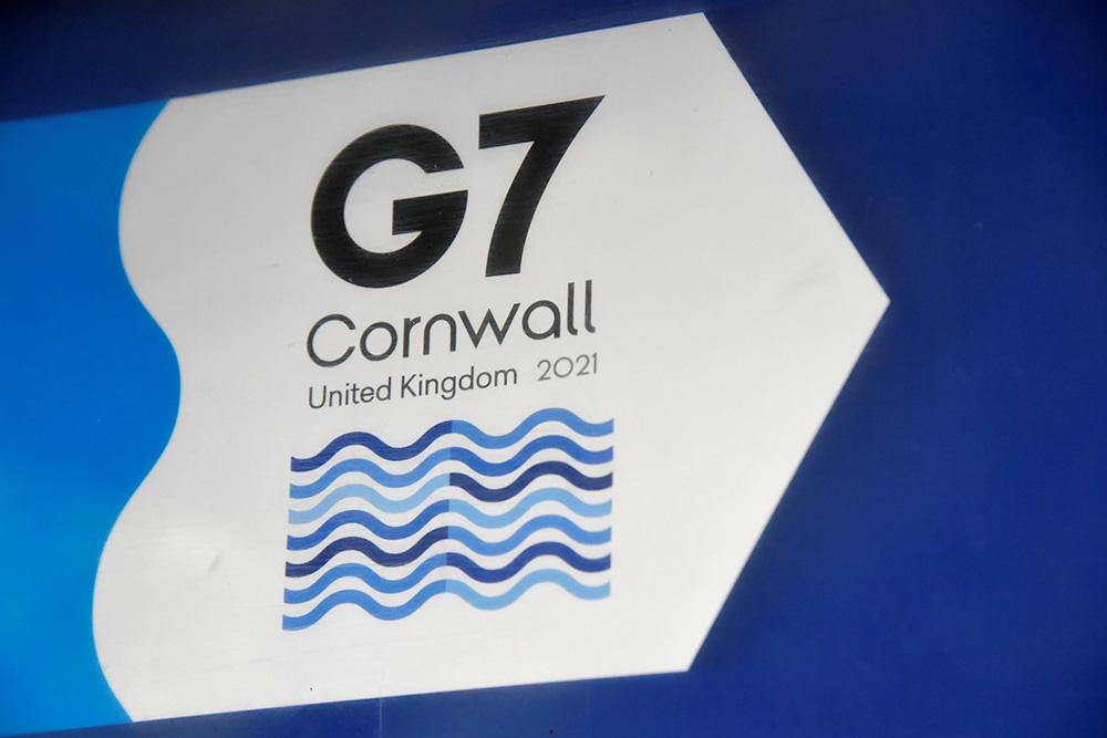 G7峰会标识 澎湃影像 图