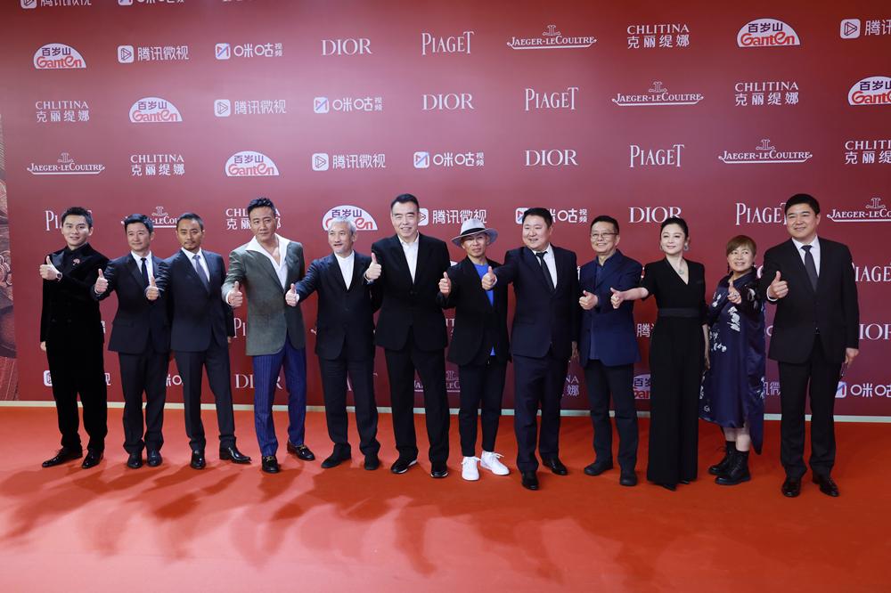 《长津湖》剧组亮相红毯。澎湃新闻记者 薛松 图