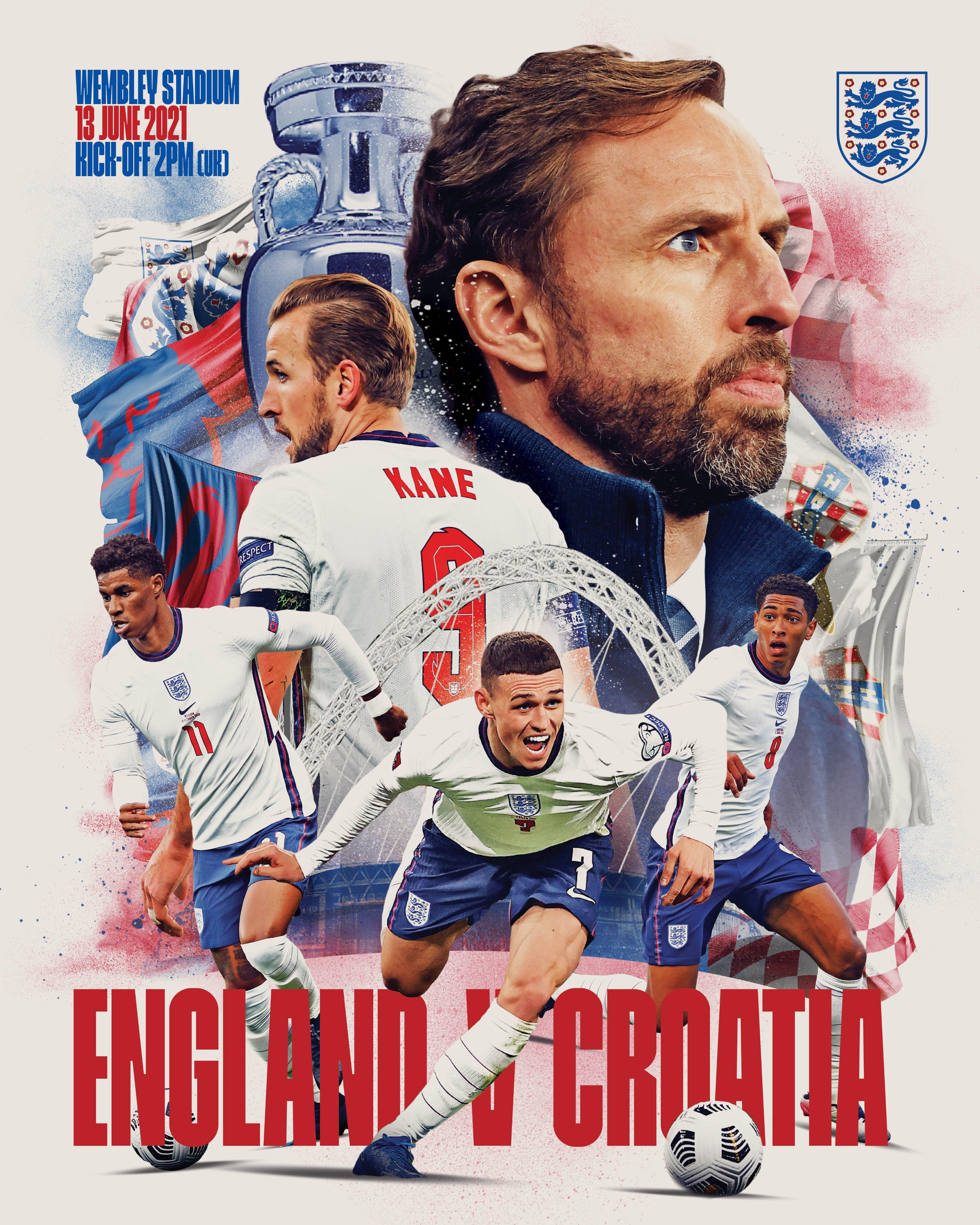 英格兰队海报。