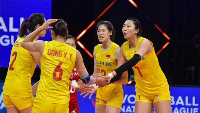 降维打击!中国女排全主力阵容回归,3-0击败荷兰队