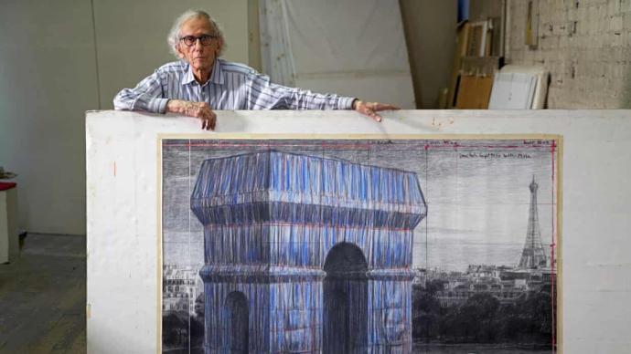 """""""包裹下巴黎凯旋门"""",大地艺术家克里斯托遗愿将实现"""