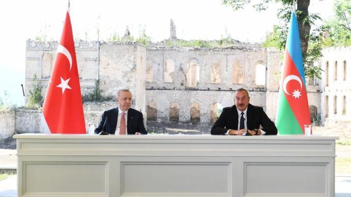 阿塞拜疆与土耳其签署舒沙宣言,两国将发展联盟关系