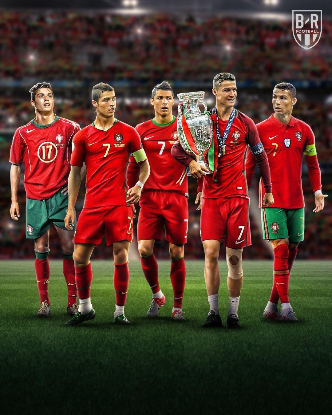 连续5次参加欧洲杯,历史第一人。