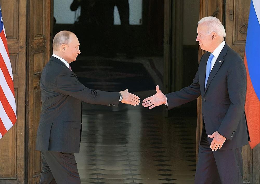 当地时间2021年6月16日,瑞士日内瓦,俄美首脑峰会举行,俄罗斯总统普京和美国总统拜登举行会晤。会晤持续了近两小时。? ?澎湃影像 图
