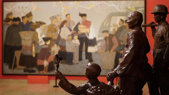 """从""""江山图画""""读到时代人物,中国美术馆举办建党百年展"""