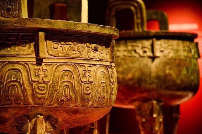 """上海博物馆""""鼎盛千秋""""展厅现场"""
