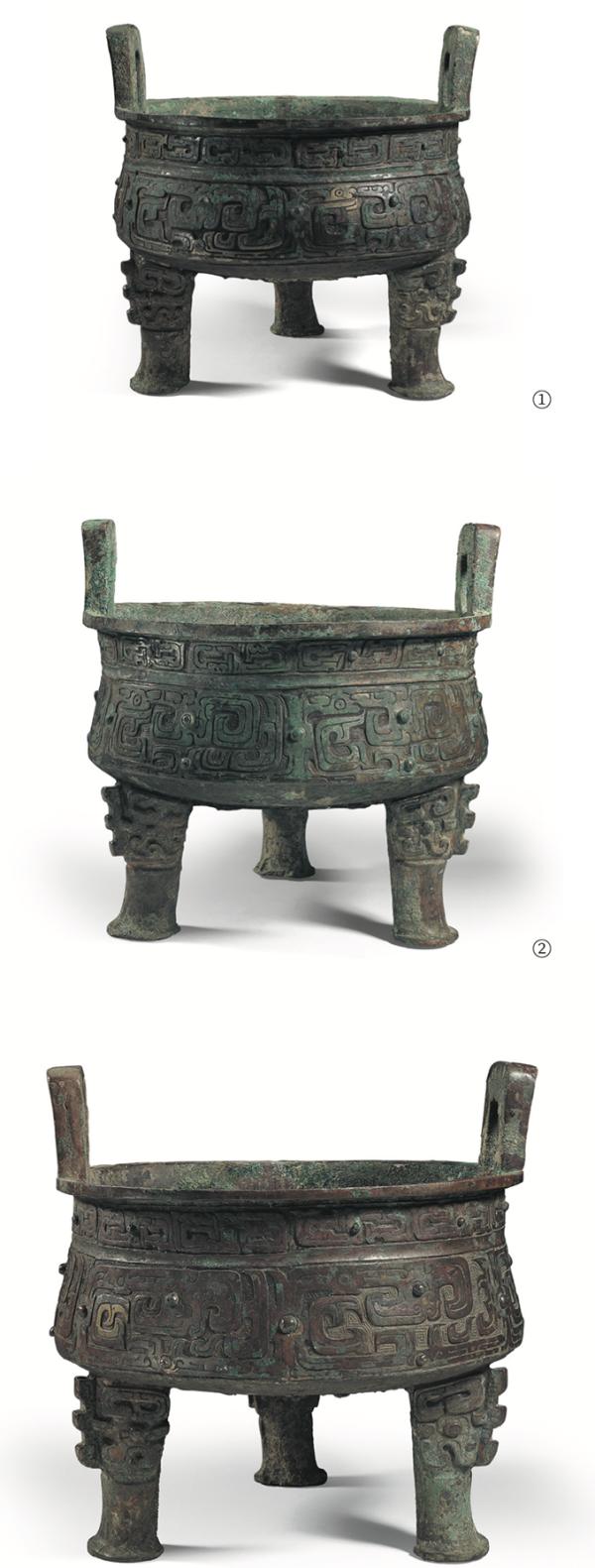秦公鼎 ,春秋早期(公元前770年—前7世纪上半叶) ,高35.2厘米 口径35.5厘米 重15.2 千克,范季融先生 胡盈莹女士捐赠