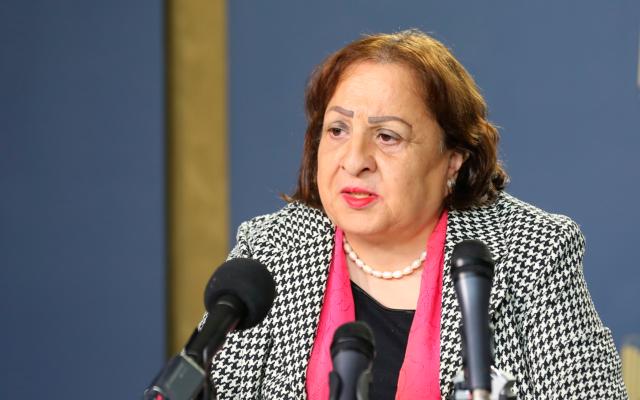 巴勒斯坦权力机构卫生部长马伊·凯拉。