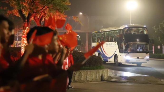 中国足协为国足举办庆功宴,鼓励国脚挺进世界杯