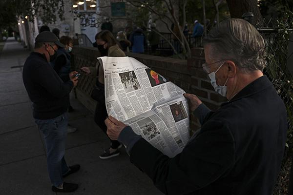 路透社的新闻研究机构发布报告,称大部分美国公众感到不再相信新闻报道。人民视觉 资料图