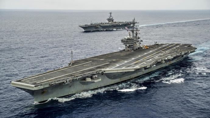 """美印将在印度洋举行军演,美海军出动""""里根""""号航母打击群"""