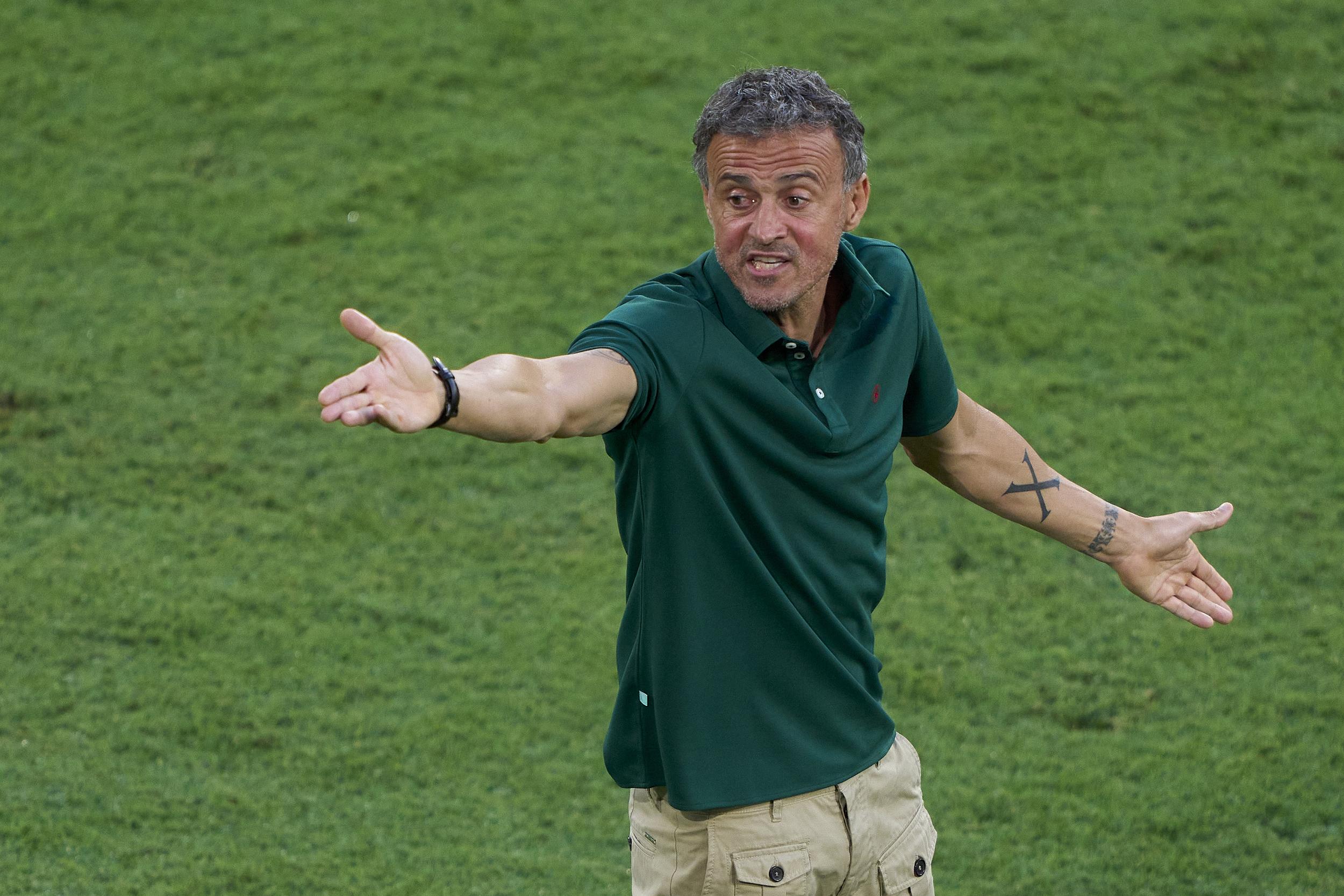 恩里克的西班牙有可能排名小组垫底。