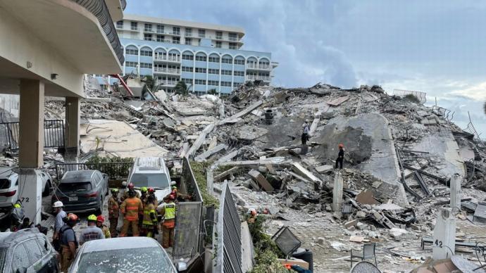 早安·世界 美佛罗里达州坍塌事故4人死亡,仍有159人失联