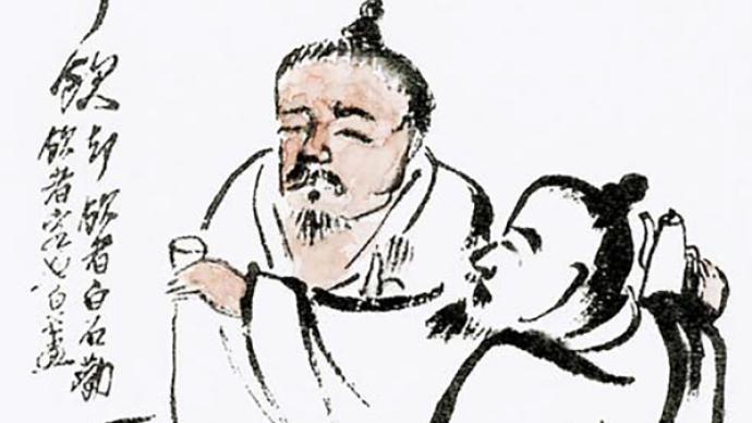 """看九十韩羽如何""""吹捧""""齐白石,北京画院呈现""""会心不远"""""""