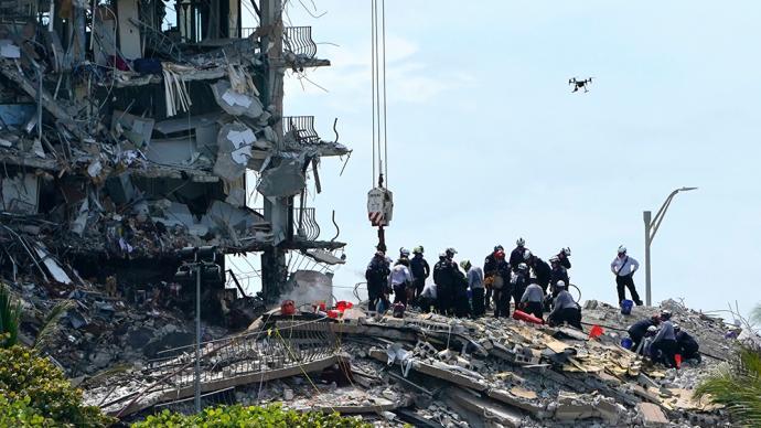 早安·世界 72小时已过 ,佛州塌楼事故仍有150多人下落不明