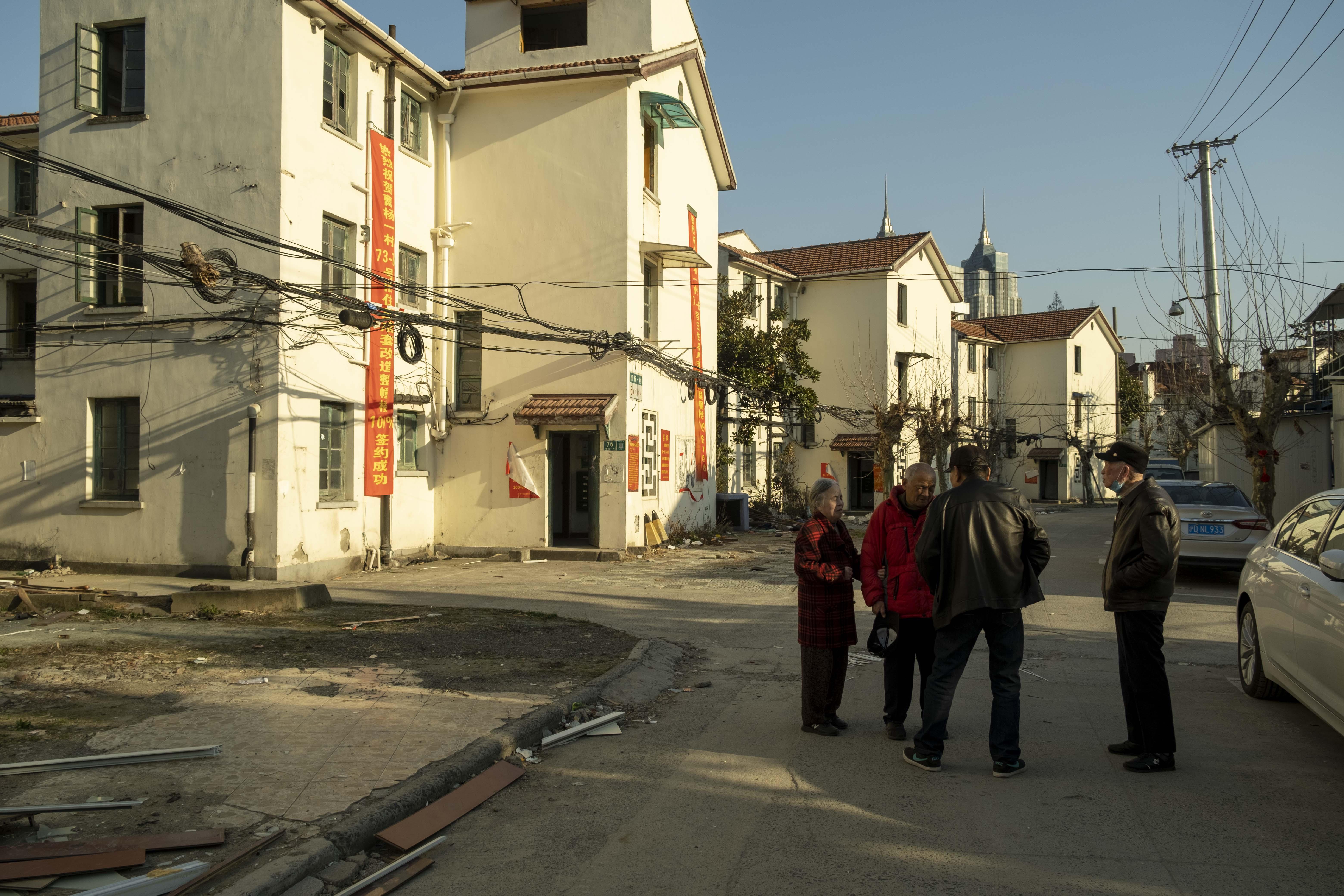 2021年3月,成套改造前的曹杨一村。 澎湃新闻记者 许海峰 图