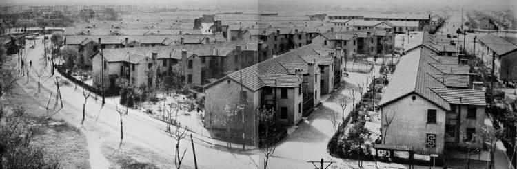 上世纪50年代,曹杨新村扇形道路规划。 曹杨新村街道事务受理中心 供图
