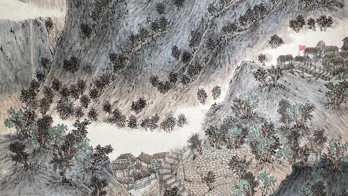 澎湃中国·小康印记③ 绘画作品选登:从峥嵘岁月到梦抵家山