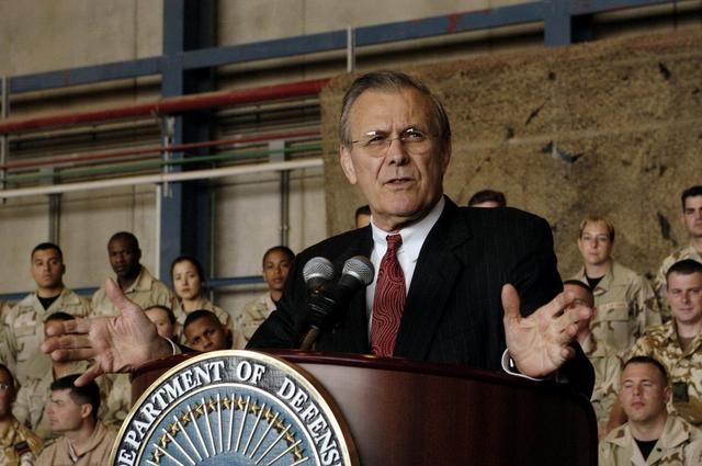 美國前國防部長唐納德·拉姆斯菲爾德。