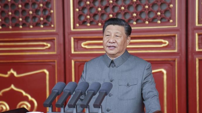 习近平总书记在庆祝中国共产党成立100周年大会上的重要讲话鼓舞全党全军全国各族人民阔步前行