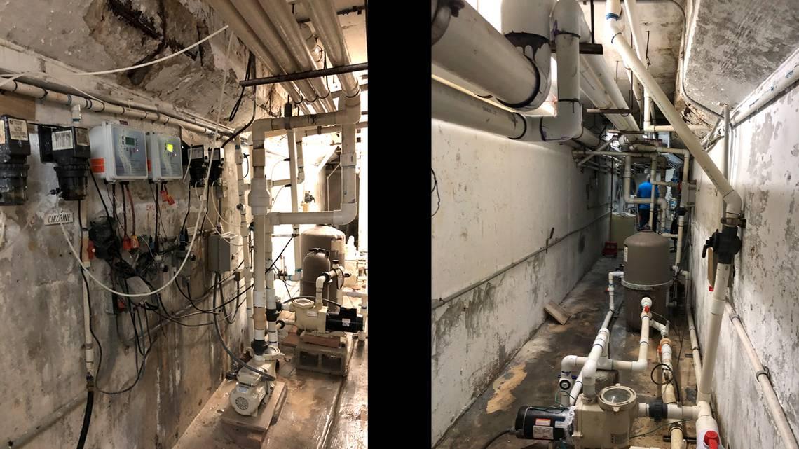 必晟平台登录:美公寓垮塌前36小时一幕:地下车库满是积水、钢筋严重腐蚀