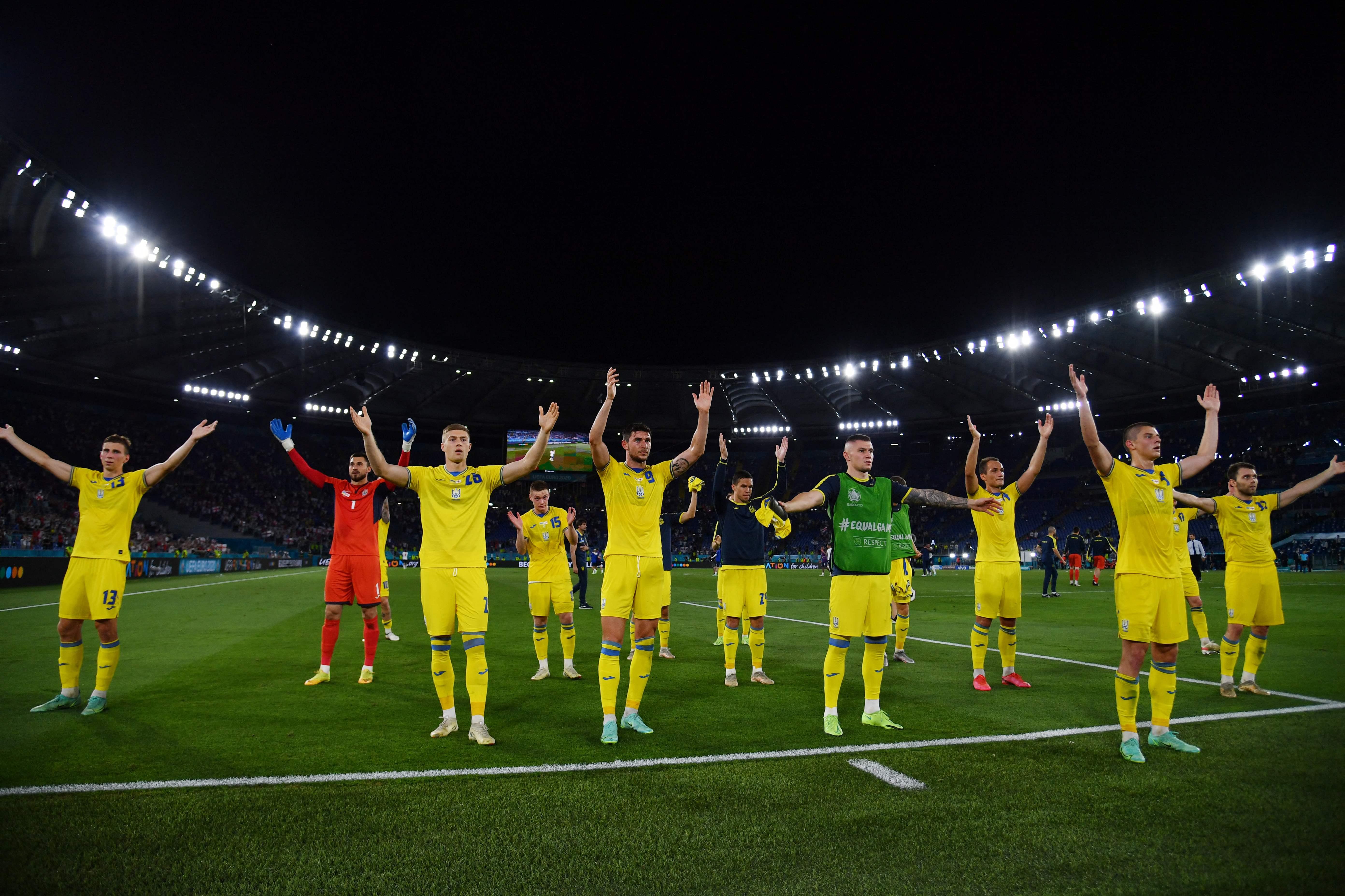 虽然0-4大败,但进入欧洲杯八强已经创造了乌克兰队的历史。