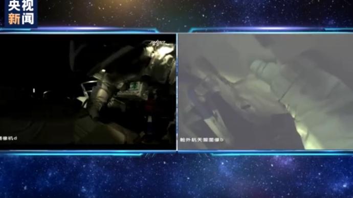 独家视频丨分工明确,神舟十二号两名航天员开展舱外作业