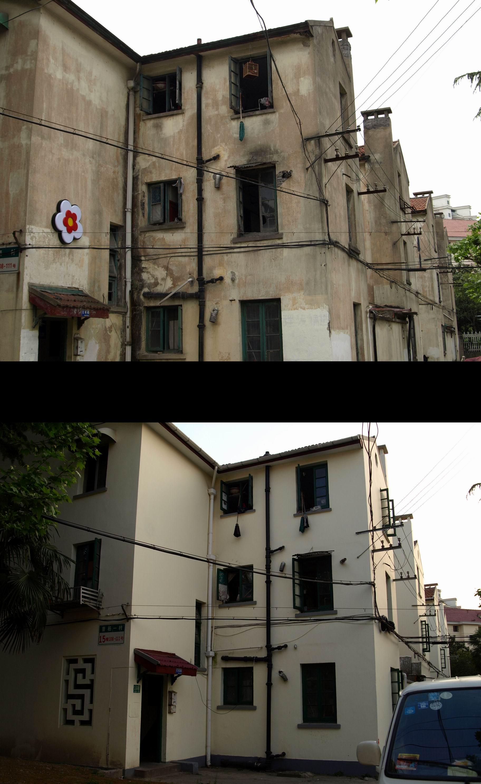 """曹杨一村几十年来一直在""""修修补补"""",但没法从根本上改善居民的生活条件。 杨辰 供图"""