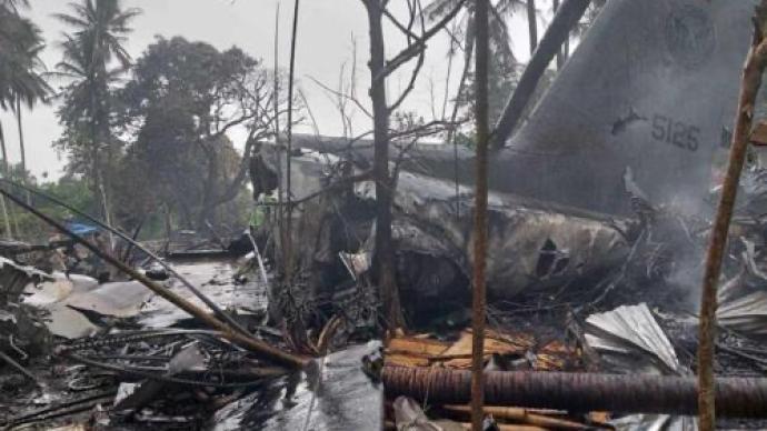 菲律宾军方:坠毁军机上96人已全部找到,其中47人遇难