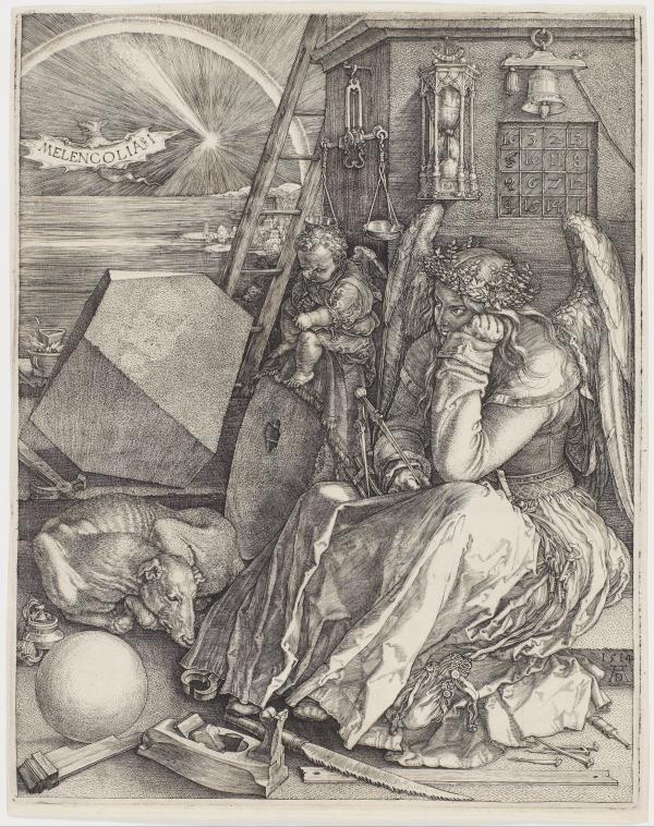 丢勒:《忧郁I》(1514)
